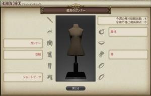ファッションチェック「孤高のガンナー」金評価装備・100点装備【FF14】